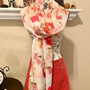 Beautiful fall floral wrap/scarf